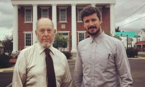 Jim Hedges and Adam Gabbatt in McConnellsburg, Pennsylvania. Photograph: Adam Gabbatt for the Guardian
